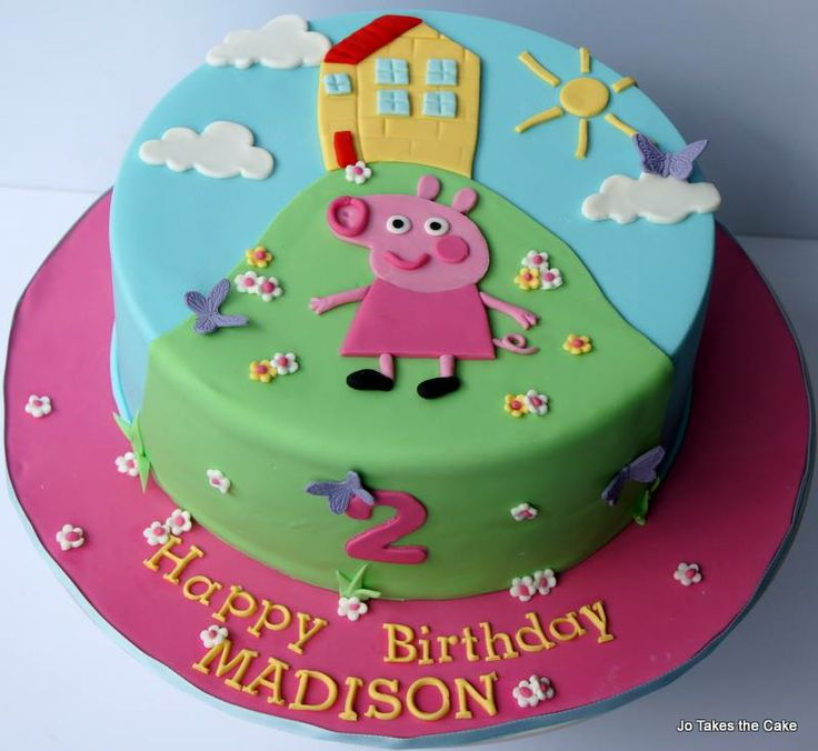 The 7 Best Cakes Images On Pinterest Peppa Pig Birthday Cake