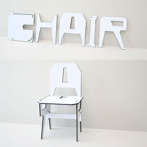 """puzzle """"chair"""" chair"""
