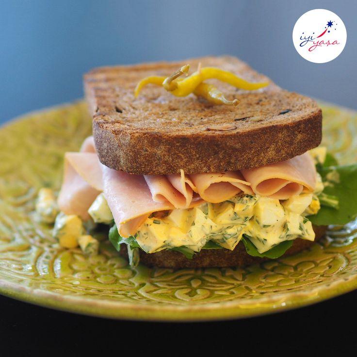 Şef Ece Zaim'den kahvaltı, öğle yemeği ve hatta akşam yemeği olabilecek hazırlaması çok pratik ve bir o kadar da besleyici bir tarif. Zeytinli ekmek ile hazırlanmış katı yumurtalı ve hindi fümeli sandviç...