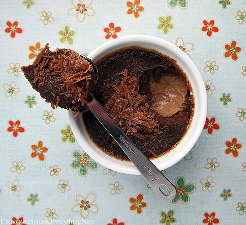 Nutella Pots de Crème (Baked Custard)