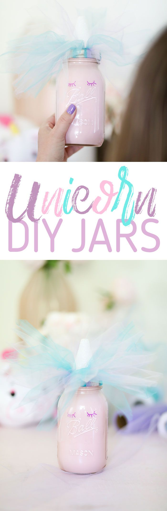 Unicorn DIY. Cute Mason Jar Unicorn. via @dawnchats