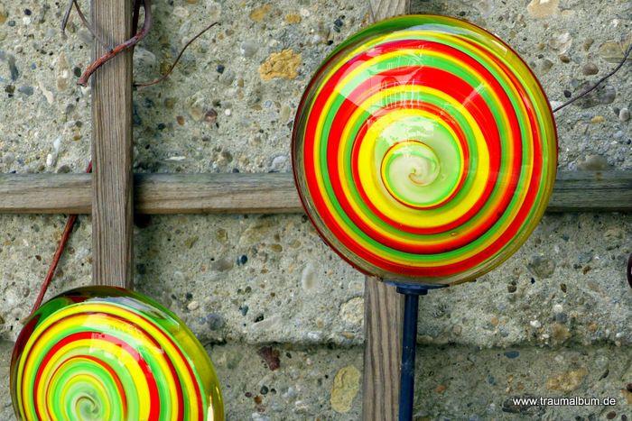 Spirale aus Glas