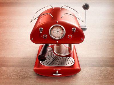 Espresso machine detailed 3d icon
