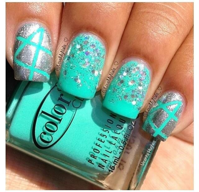 Glitter and light light blue