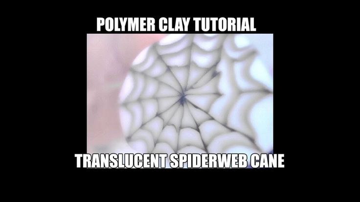 Polymer clay tutorial - spiderweb cane (Halloween series) - YouTube