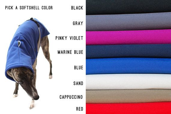 Dog Winter coat with outer SoftShell and inner Fleece от KIWIDOGS