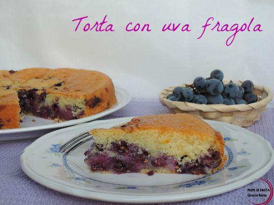 Torta con uva fragola  http://maninpastaqb.blogspot.it/2015/10/torta-con-uva-fragola.html