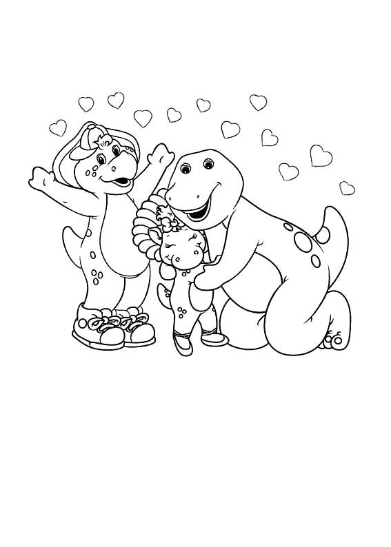 barney care with friends coloring page - Barney Friends Coloring Pages