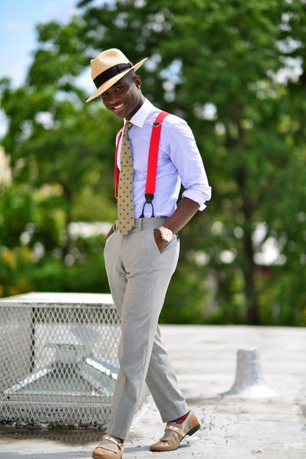 Handsome Men Looks with Suspenders (9)