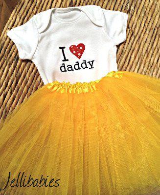 I love my daddy baby tutu and onesie vest set