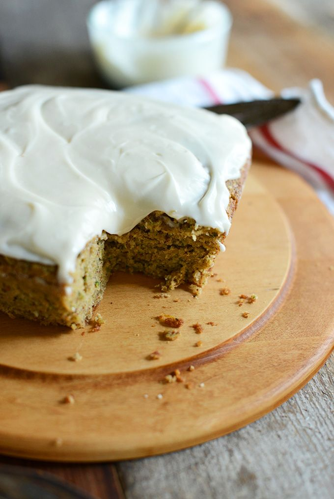 GLuten Free Zucchini Cake with Dairy Free Frosting! 1 bowl required   minimalistbaker.com #glutenfree #dairyfree