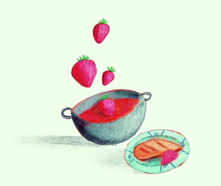 Il tocco di classe per pranzo.  Salsa di fragole (ottima per le carni e la selvaggina). Cuocete a fuoco basso un trito di cipolla con ½ bicchiere di porto, ½ di aceto balsamico e 200 g di zucchero. Fate addensare. Aggiungete 150 g di fragoline di bosco, cuocete per 10 minuti con un pizzico di sale.  #ricette