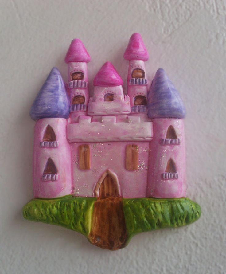 Little Princess Castle - Ceramic - Wall Decor by allabouthandicraft on Etsy
