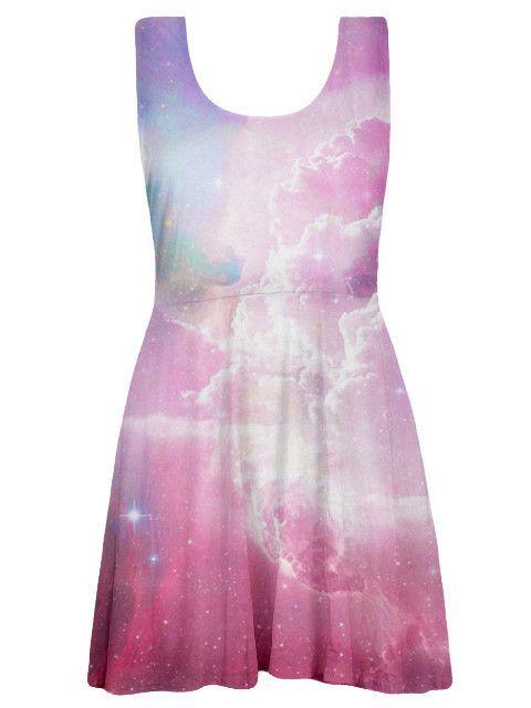 Pastel Galaxy Skater Dress