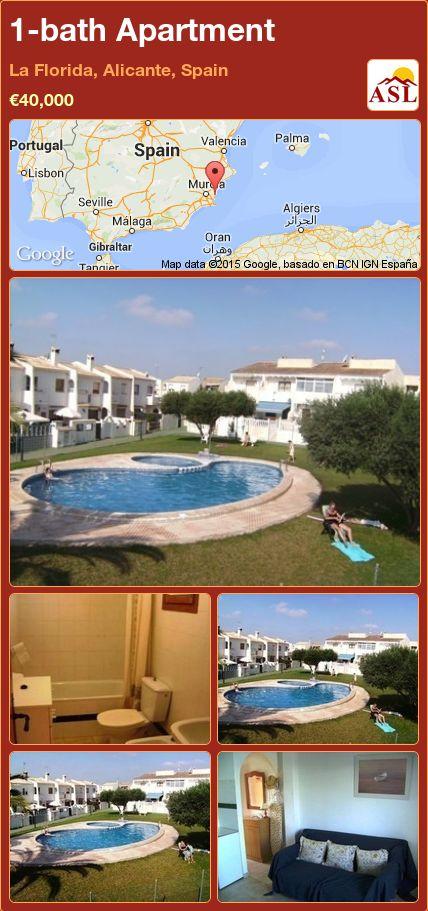 1-bath Apartment in La Florida, Alicante, Spain ►€40,000 #PropertyForSaleInSpain
