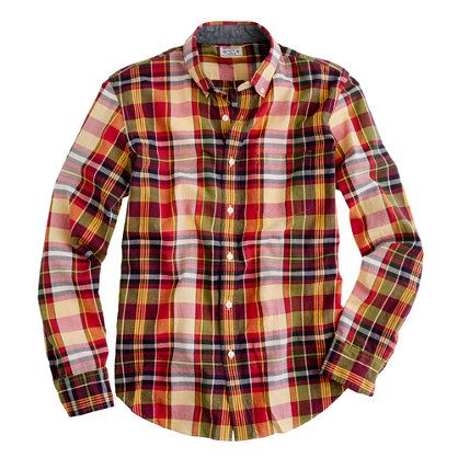 Indian cotton shirt in golden plaid by J.CrewClothing, Men Stuff, Men Style, Madras Shirts, Cotton Plaid, Jcrew Shirts, Cotton Shirts, Golden Plaid, Style Point