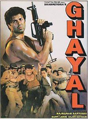 Ghayal Hindi Movie Online - Sunny Deol, Meenakshi Seshadri, Raj Babbar, Moushumi Chatterjee, Amrish Puri, Om Puri and Kulbhushan Kharbanda. Directed by Rajkumar Santoshi. Music by Bappi Lahiri. 1990 [A] ENGLISH SUBTITLE