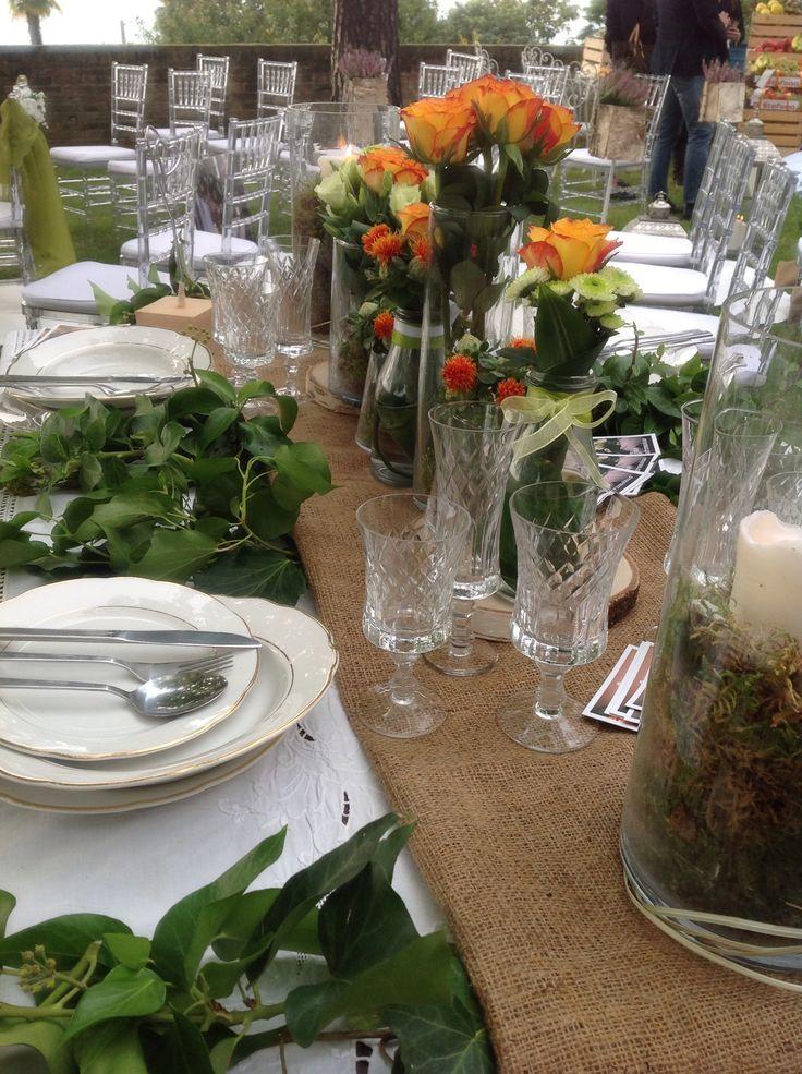 Wedding table decoration by Carmen Gambarota