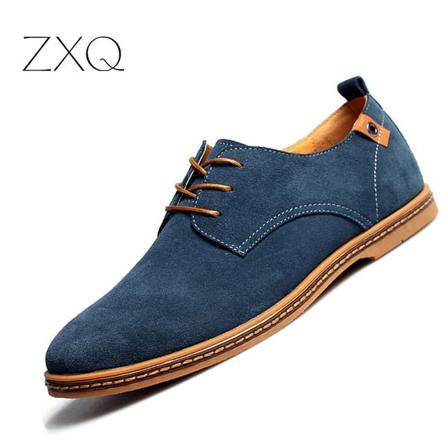 Best Price $16.92, Buy 2017 fashion men casual shoes new spring men flats lace up male suede oxfords men leather shoes zapatillas hombre size 38-48