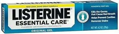 Toothpaste: Listerine Essential Care Toothpaste Gel 4.20 Oz (Pack Of 6) BUY IT NOW ONLY: $30.64