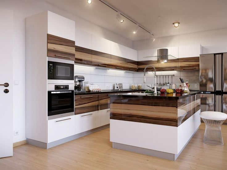 white brown kitchen designs. kitchen  Contemporary Kitchen Design With Modern Ceiling Lighting Stainless Faucet White Brown Kitcen Cabinet Wooden Flooring Oven Ce 522 best designs images on Pinterest Antique white