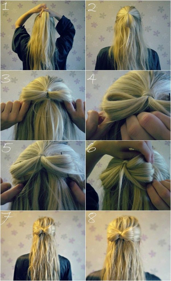 www.elvirall.blogg.se    girly, diy, bow, hairstyle,long hair,blonde