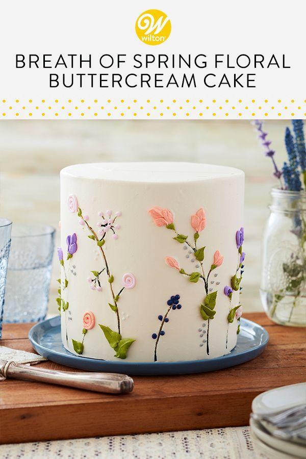 Sanft und feminin ist dieser Breathe of Spring Floral Cake eine wundervolle …   – kitchen love.