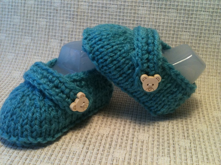 Knitted Baby Loafer Shoes.  Size newborn/baby 0-3mths.  Colour Light Blue.