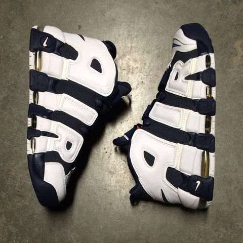 Air More Uptempo Mid Navy Obsidian White | SOLE MATE Sneaker Boutique