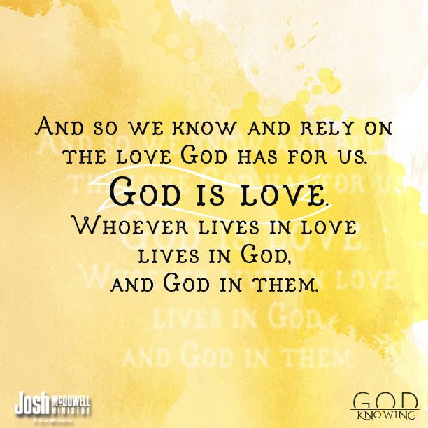 Life is tough. People are mean. But, God is love and he loves us fiercely. (1 John 4:16) #KnowGod's plan for you!