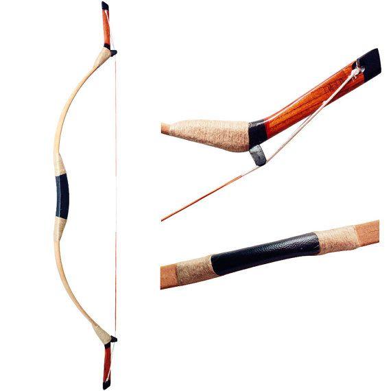 MAYARMS Handmade Chinese Longbow Fiberglass Bow Leather Archery Hunting Longbow…