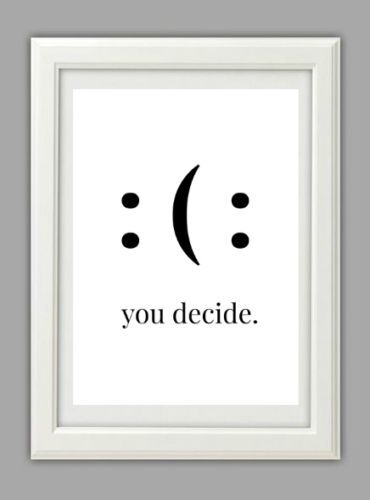 Lifestyle-Fine-Art-Druck-Bild-Spruch-Typografie-Motivation-Smile-Geschenk