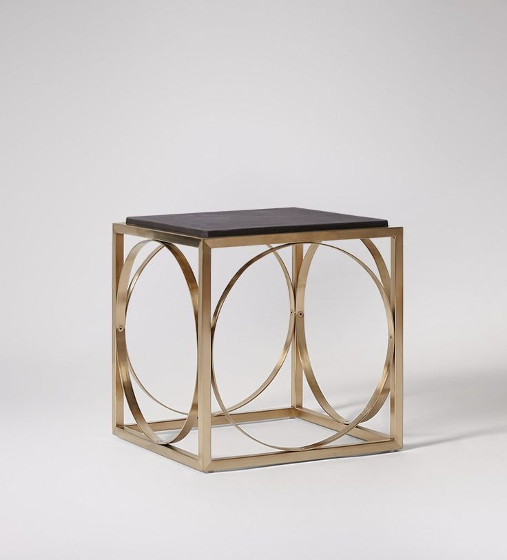 Swoon Editions Side table, contemporary style in Champagne - £229