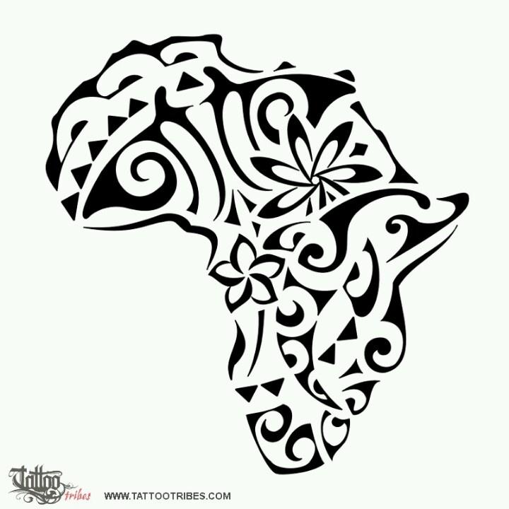 Africa tattoo - with Rwandan flag colors?