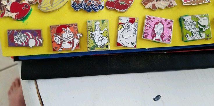 Disney Parks Hidden Mickey Alice in Wonderland Pins Comic Collection Complete | eBay