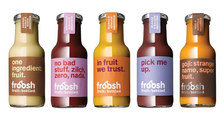 Froosh smoothie bottles
