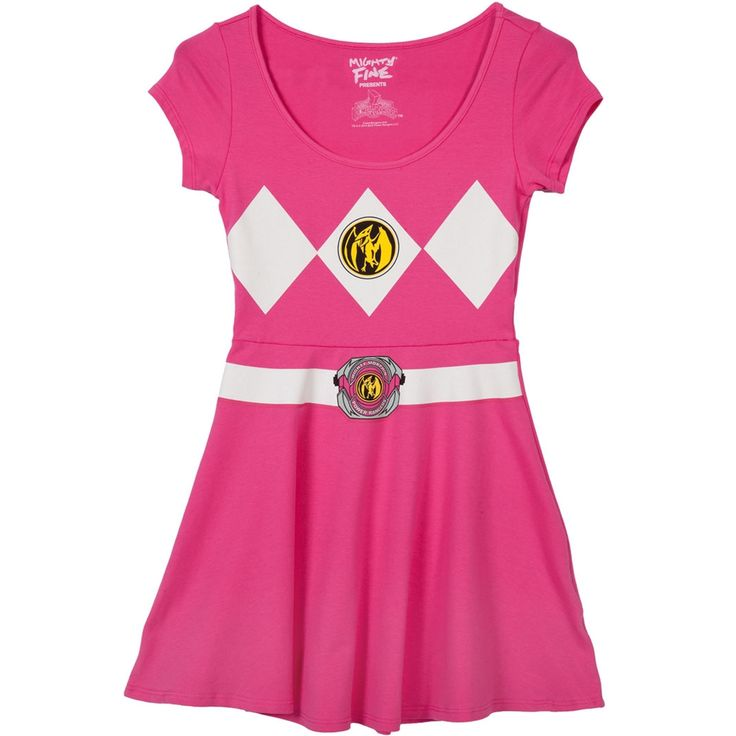 Pink Power Ranger Costume Skater Dress