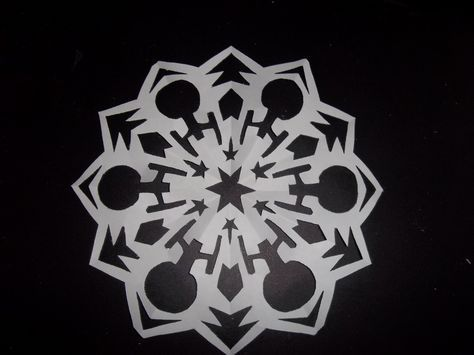 A Star Trek snowflake! Credit to some random tumblr.