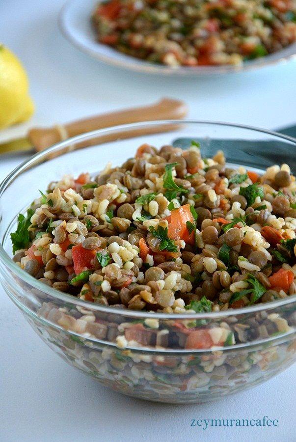 yeşil mercimek salatası http://www.zeymurancafee.com/yesil-mercimek-salatasi/