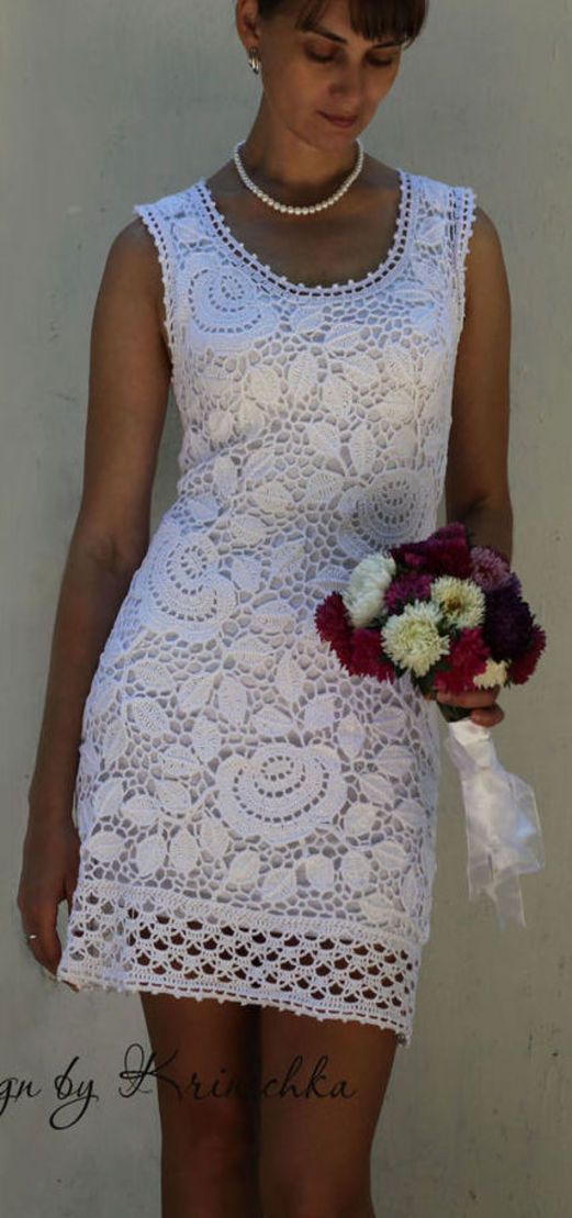 Wedding Crochet Dress