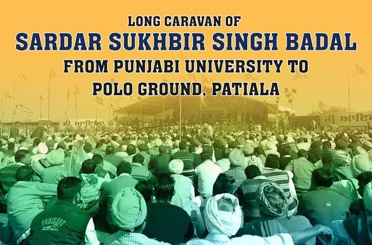 Its time to show Punjab to the world. #Shiromaniakalidal #Youthakalidal #Sadbhavna #Rally #Patiala