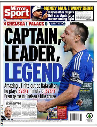 Back page of the Mirror 4/5/15