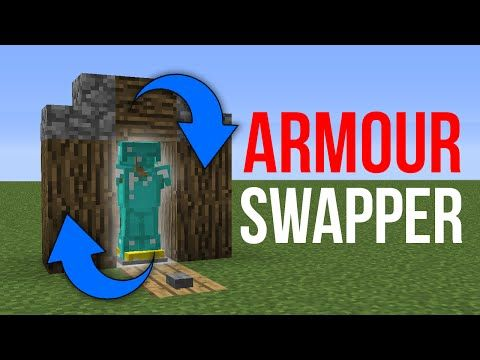 Minecraft 1.10: Redstone Tutorial - Armour Stand Swapper v2 - YouTube