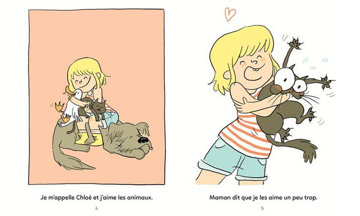Chloé et les animaux - Illustrations Orbie
