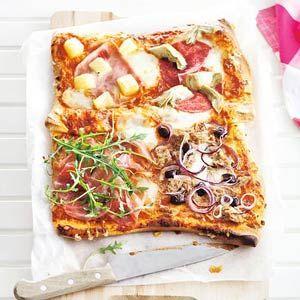 Recept - Pizza quattro gusti - Allerhande