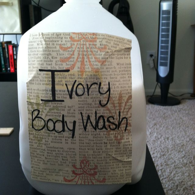 Homemade Ivory Body Wash/ Hand Soap: Grate 9oz Of Ivory