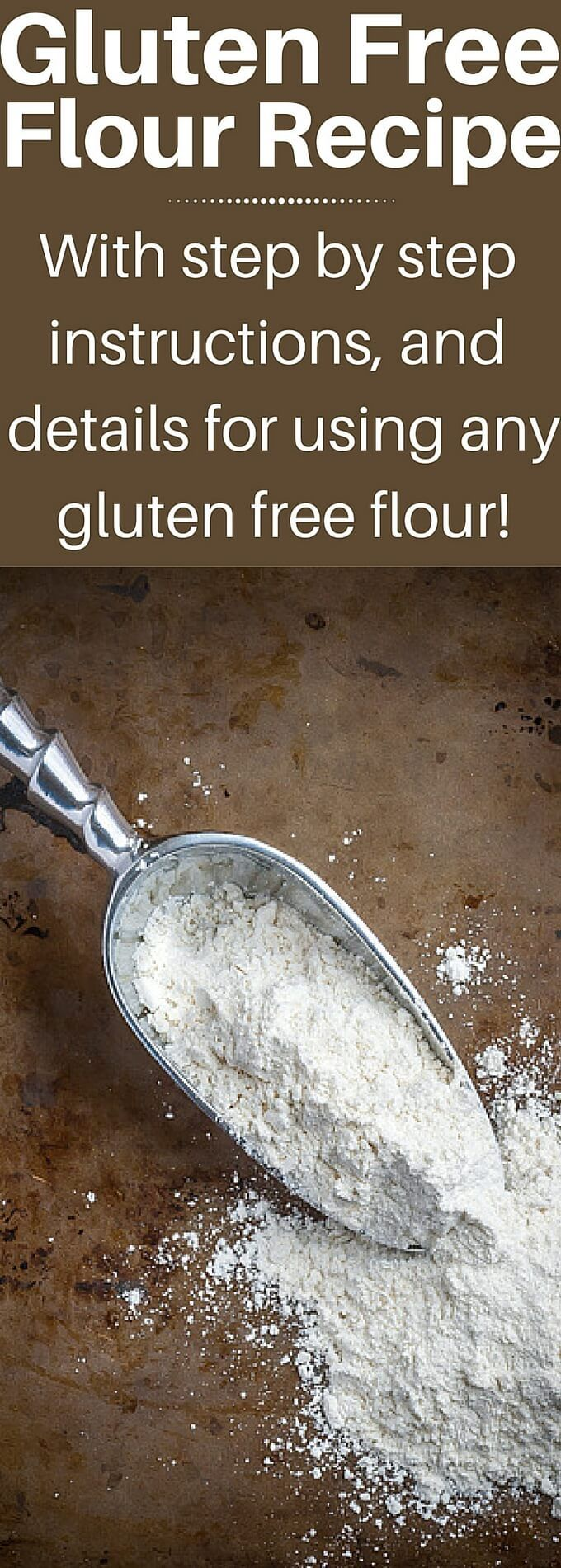 Super easy step by step instructions for creating your own gluten free flour blend recipe at home! It's so much cheaper than ready made and you will get better results, details on all the most common Gluten Free Flour options in the post! | noshtastic.com