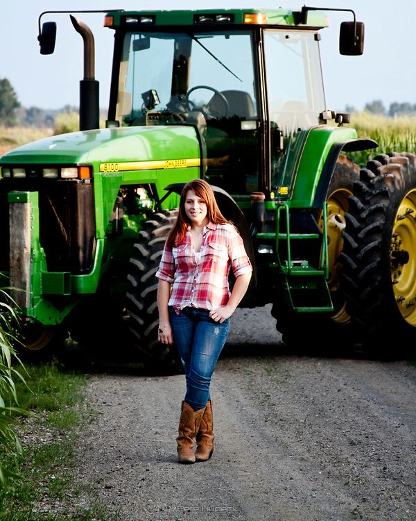 senior picture with tractor | Tractor Senior Picture.jpg | Pete Hudeck Photo
