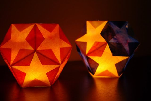 Dodecahedron Star Lantern {Tutorial} - these are so cool! Easy to make, and…