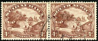 Union of South Africa  1936 Scott 41 (SG 46c) 4d brown No Hyphen